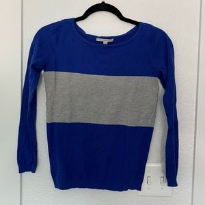 Gap XS Blue and Gray Striped Sweater